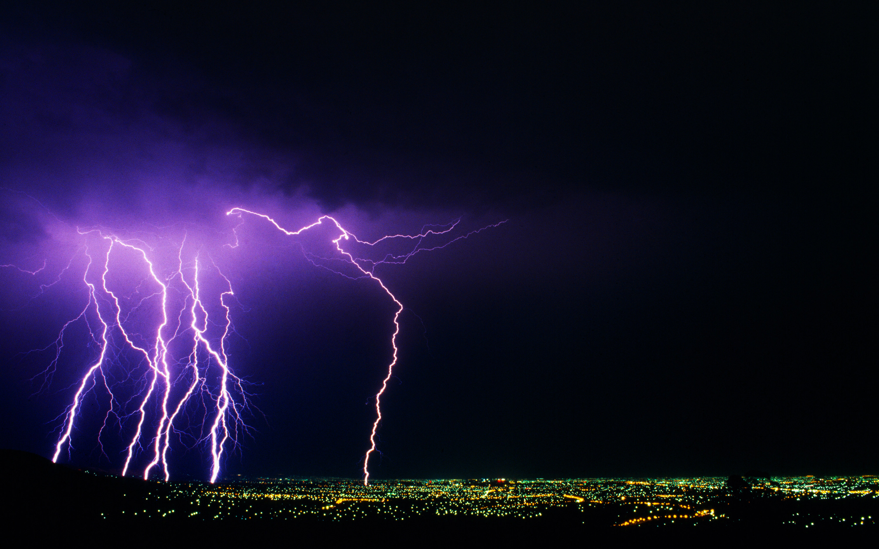 An electrical storm over Adelaide