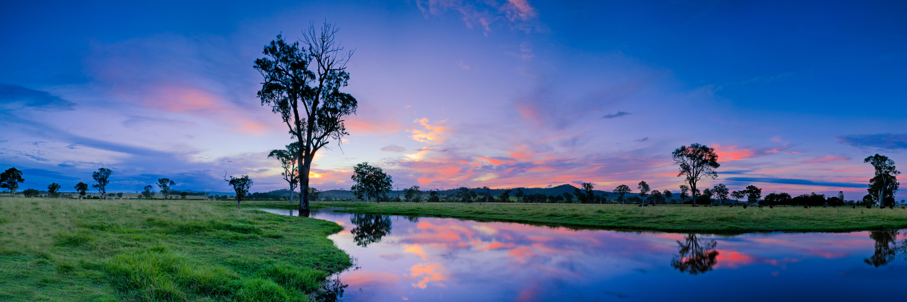 a Scenic Rim sunset over water