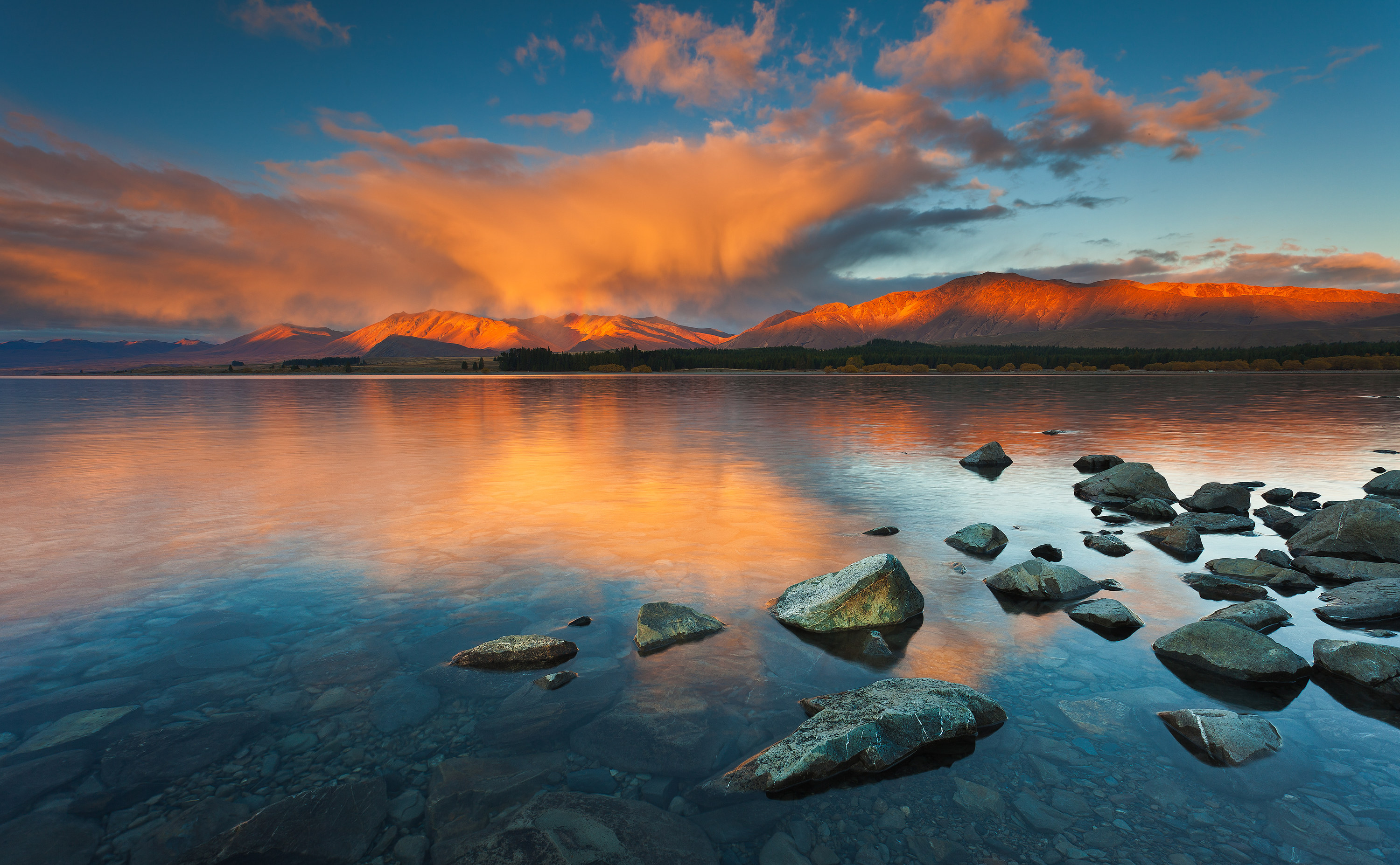 Lake Tekapo in the Canterbury region of NZ