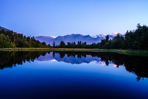 late afternoon reflection of Lake Matheson